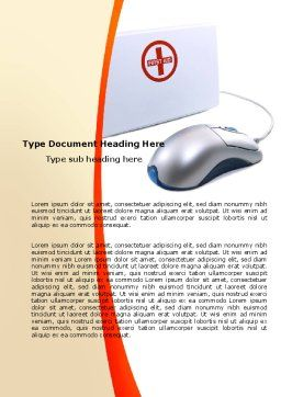 Computer Diagnostics Word Template, Cover Page, 05964, Medical — PoweredTemplate.com