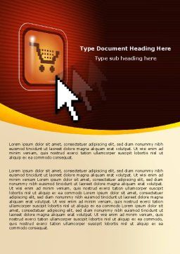 E-Commerce Word Template Cover Page