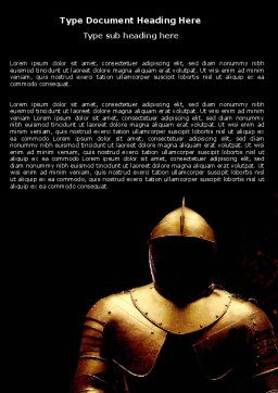 Knight Armour Word Template Cover Page