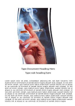 Quitting Smoking Word Template, Cover Page, 05975, Medical — PoweredTemplate.com
