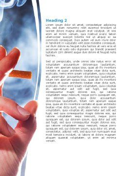 Quitting Smoking Word Template, Second Inner Page, 05975, Medical — PoweredTemplate.com