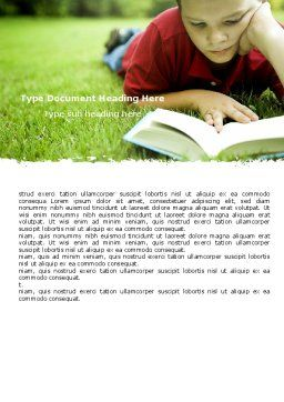 Reading On Summer Vacations Word Template Cover Page