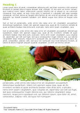 Reading On Summer Vacations Word Template First Inner Page