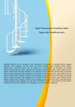 Winding Stairs Word Template, Cover Page, 05978, Careers/Industry — PoweredTemplate.com