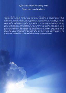 Sky Word Template, Cover Page, 05983, Nature & Environment — PoweredTemplate.com