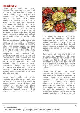 Exotic Fruits Word Template, First Inner Page, 05984, Food & Beverage — PoweredTemplate.com