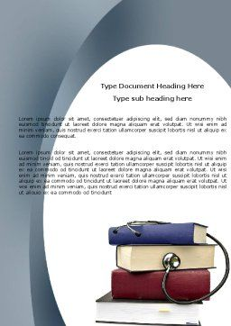 Medical Textbooks Word Template, Cover Page, 05985, Medical — PoweredTemplate.com