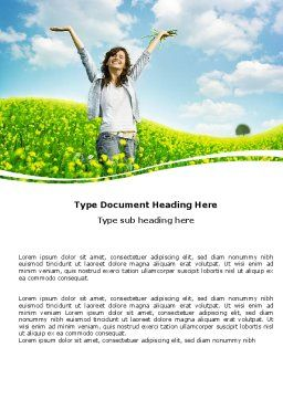 Sunshine Girl Word Template, Cover Page, 05989, People — PoweredTemplate.com