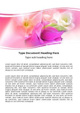 Summer Flowers Word Template 05990 Poweredtemplate Com