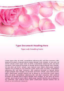 Rose Petal Word Template, Cover Page, 05993, Holiday/Special Occasion — PoweredTemplate.com