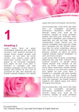 Rose Petal Word Template, First Inner Page, 05993, Holiday/Special Occasion — PoweredTemplate.com