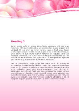 Rose Petal Word Template, Second Inner Page, 05993, Holiday/Special Occasion — PoweredTemplate.com