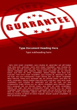 Quality Seal Word Template, Cover Page, 05994, Business Concepts — PoweredTemplate.com