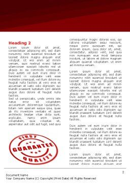 Quality Seal Word Template, First Inner Page, 05994, Business Concepts — PoweredTemplate.com