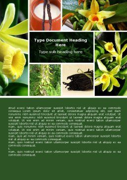 Yellow Flowers Word Template, Cover Page, 05995, Nature & Environment — PoweredTemplate.com
