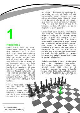 Chess Passed Pawn Word Template, First Inner Page, 05996, Business Concepts — PoweredTemplate.com