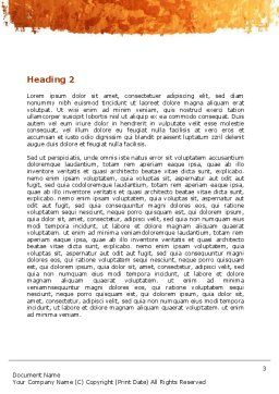 Ethnic Party Word Template Second Inner Page