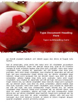 Cherry Word Template Cover Page