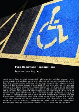 Handicapped Persons Policy Word Template, Cover Page, 06002, Medical — PoweredTemplate.com