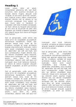 Handicapped Persons Policy Word Template, First Inner Page, 06002, Medical — PoweredTemplate.com
