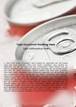 Soda Cans Word Template, Cover Page, 06003, Food & Beverage — PoweredTemplate.com
