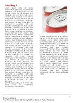 Soda Cans Word Template, First Inner Page, 06003, Food & Beverage — PoweredTemplate.com