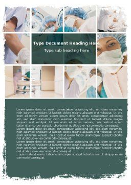 Surgery Room Word Template, Cover Page, 06011, Medical — PoweredTemplate.com