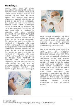 Surgery Room Word Template, First Inner Page, 06011, Medical — PoweredTemplate.com