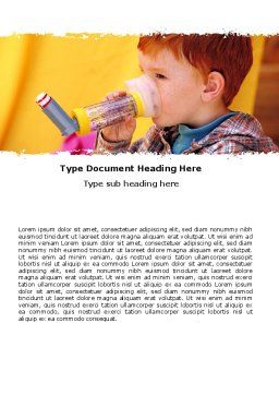 Aerosol Therapy Word Template, Cover Page, 06012, Medical — PoweredTemplate.com