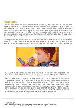 Aerosol Therapy Word Template, First Inner Page, 06012, Medical — PoweredTemplate.com