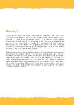Aerosol Therapy Word Template, Second Inner Page, 06012, Medical — PoweredTemplate.com