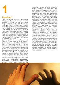 Reaching Hand Word Template, First Inner Page, 06017, Medical — PoweredTemplate.com