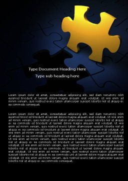 Yellow Puzzle Word Template, Cover Page, 06022, Consulting — PoweredTemplate.com