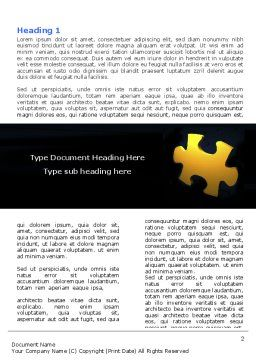 Yellow Puzzle Word Template, First Inner Page, 06022, Consulting — PoweredTemplate.com