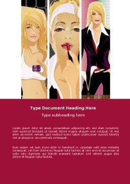 Haute Couture Word Template, Cover Page, 06025, Careers/Industry — PoweredTemplate.com