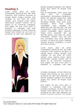 Haute Couture Word Template, First Inner Page, 06025, Careers/Industry — PoweredTemplate.com