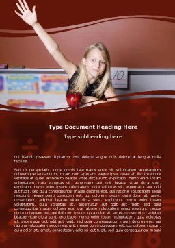 Excellent Pupil In Secondary School Word Template, Cover Page, 06027, Financial/Accounting — PoweredTemplate.com