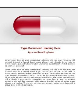 Red Pill Word Template, Cover Page, 06029, Medical — PoweredTemplate.com