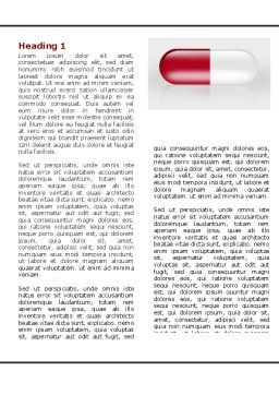 Red Pill Word Template, First Inner Page, 06029, Medical — PoweredTemplate.com