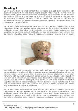 Wounded Teddy Bear Word Template, First Inner Page, 06030, Medical — PoweredTemplate.com