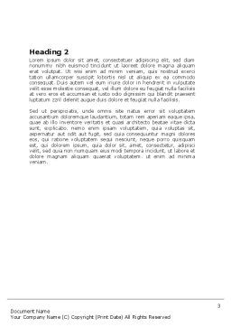 Yes Computer Word Template, Second Inner Page, 06031, Technology, Science & Computers — PoweredTemplate.com