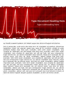 Heart Rhythm Word Template, Cover Page, 06036, Medical — PoweredTemplate.com