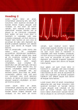 Heart Rhythm Word Template, First Inner Page, 06036, Medical — PoweredTemplate.com