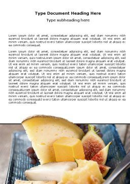 Cheese Word Template, Cover Page, 06038, Food & Beverage — PoweredTemplate.com