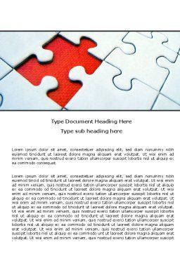 Last Red Piece to Complete Puzzle Word Template, Cover Page, 06039, Consulting — PoweredTemplate.com