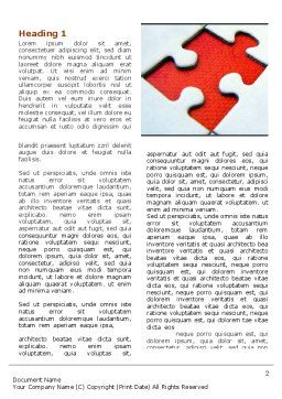 Last Red Piece to Complete Puzzle Word Template, First Inner Page, 06039, Consulting — PoweredTemplate.com