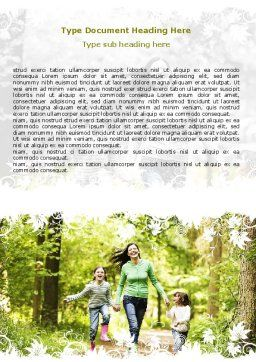Mother with Daughters Word Template, Cover Page, 06047, People — PoweredTemplate.com