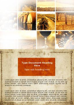 Winegrowing Word Template, Cover Page, 06049, Agriculture and Animals — PoweredTemplate.com