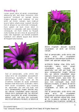 Violet Flowers Word Template, First Inner Page, 06051, Nature & Environment — PoweredTemplate.com