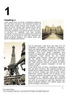 Paris Word Template, First Inner Page, 06054, Flags/International — PoweredTemplate.com